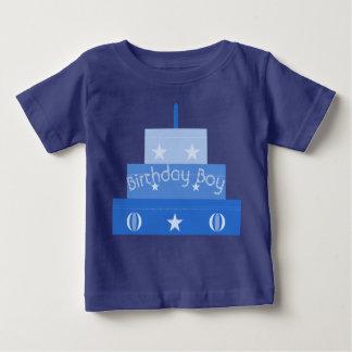 Camiseta Para Bebê T-shirt do bolo do menino do aniversário