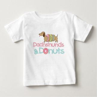 Camiseta Para Bebê T-shirt do cão do Dachshund e do Wiener das
