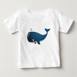 """Camiseta Para Bebê """"T-shirt do caráter da baleia do selo pequeno do"""