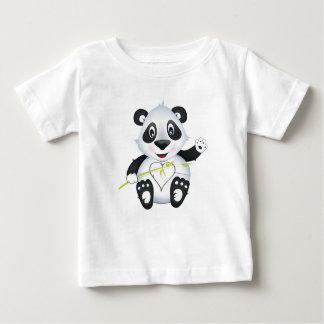 """Camiseta Para Bebê """"T-shirt do caráter da panda do selo pequeno do"""