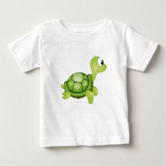 """Camiseta Para Bebê """"T-shirt do caráter da tartaruga do selo pequeno"""