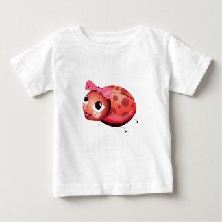 """Camiseta Para Bebê """"T-shirt do caráter do joaninha do selo pequeno do"""