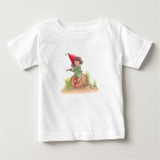 Camiseta Para Bebê T-shirt do duende da flauta