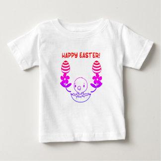 """Camiseta Para Bebê T-shirt do """"felz pascoa"""" do bebê"""