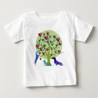 Camiseta Para Bebê T-shirt do jérsei da multa da arte do jardim dos