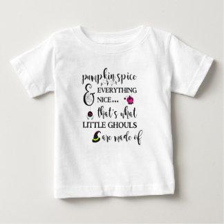 Camiseta Para Bebê T-shirt do jérsei da multa do bebê da especiaria