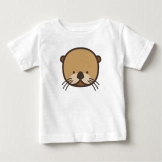 Camiseta Para Bebê T-shirt do jérsei da multa do bebê da lontra de