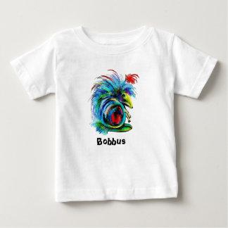 Camiseta Para Bebê T-shirt do jérsei da multa do bebê de Bobbus