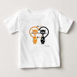 Camiseta Para Bebê T-shirt do jérsei da multa do bebê de Chacha