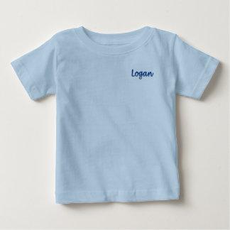 Camiseta Para Bebê T-shirt do jérsei da multa do bebê de Logan