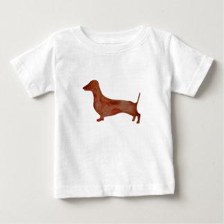 Camiseta Para Bebê T-shirt do jérsei da multa do bebê do cão de Brown
