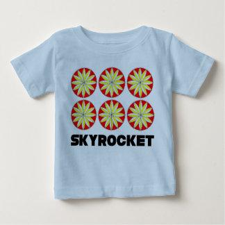 Camiseta Para Bebê T-shirt do jérsei da multa do bebê do foguete