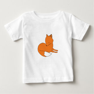 Camiseta Para Bebê T-shirt do jérsei da multa do bebê do Fox, branco