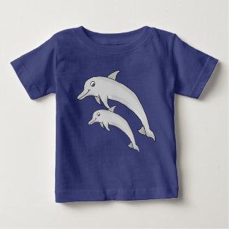 Camiseta Para Bebê T-shirt do jérsei da multa do bebê do golfinho