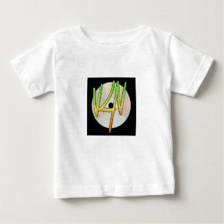 Camiseta Para Bebê T-shirt do jérsei da multa do bebê do logotipo de