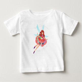 Camiseta Para Bebê T-shirt do jérsei da multa do bebê do rubi