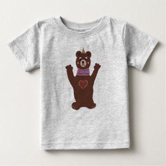Camiseta Para Bebê T-shirt do jérsei da multa do bebê do urso