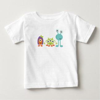 Camiseta Para Bebê T-shirt do jérsei da multa do bebê dos aliens de