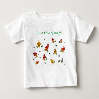 Camiseta Para Bebê T-shirt do jérsei da multa do bebê dos cogumelos,