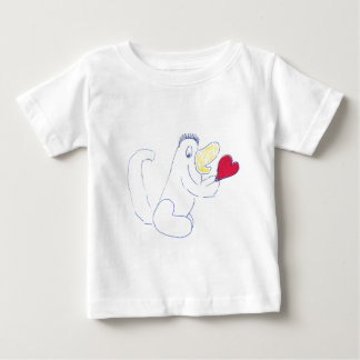 Camiseta Para Bebê T-shirt do jérsei das crianças do inseto do amor