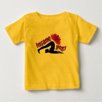 Camiseta Para Bebê T-shirt do jérsei do bebê com sinal insano do