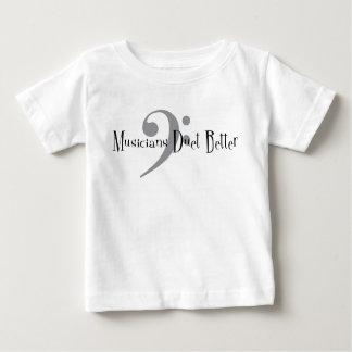 Camiseta Para Bebê T-shirt do jérsei do bebê do dueto (baixo)