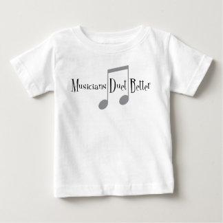 Camiseta Para Bebê T-shirt do jérsei do bebê do dueto (notas)