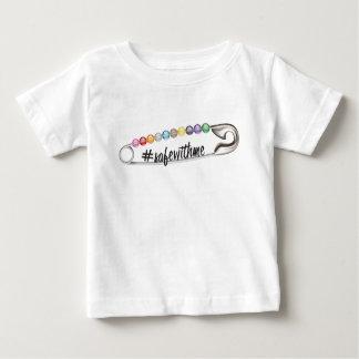 Camiseta Para Bebê T-shirt do jérsei do bebê do #SafeWithMe