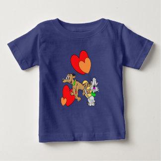 Camiseta Para Bebê T-shirt do jérsei do bebê dos desenhos animados do