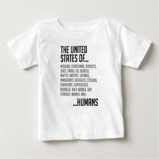 Camiseta Para Bebê T-shirt do jérsei do bebê dos Estados Unidos
