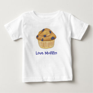 Camiseta Para Bebê T-shirt do muffin do amor