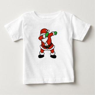 Camiseta Para Bebê T-shirt do Natal da dança da solha de Papai Noel