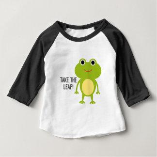 Camiseta Para Bebê T-shirt do Raglan da luva do bebê 3/4 do comedor