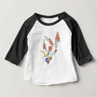 Camiseta Para Bebê T-shirt do Raglan das crianças de mnanipulação do