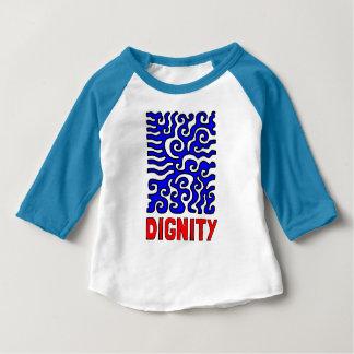 """Camiseta Para Bebê T-shirt do Raglan do bebê 3/4 da """"dignidade"""""""