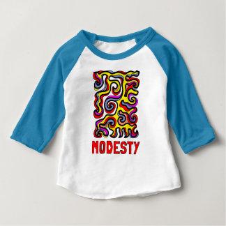 """Camiseta Para Bebê T-shirt do Raglan do bebê 3/4 da """"modéstia"""""""
