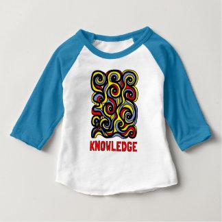 """Camiseta Para Bebê T-shirt do Raglan do bebê 3/4 do """"conhecimento"""""""