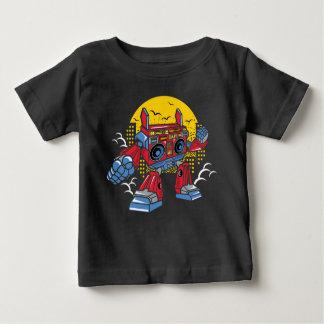 Camiseta Para Bebê T-shirt do robô de BoomBox