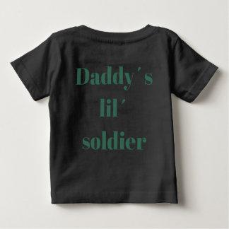 Camiseta Para Bebê T-shirt do soldado do lil´ dos daddy´s da abóbora
