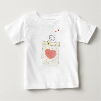 Camiseta Para Bebê T-shirt do sono do urso de ursinho