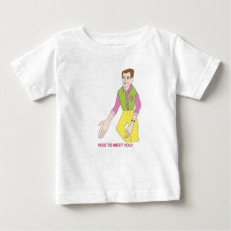 Camiseta Para Bebê T-shirt do Sr. Agradável Encontro Você para bebês