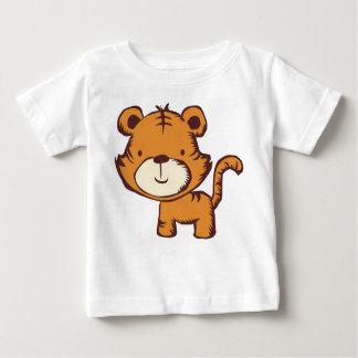 Camiseta Para Bebê T-shirt do tigre de Lil
