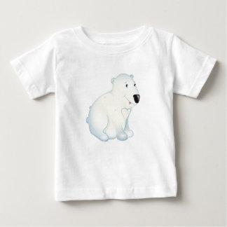 """Camiseta Para Bebê """"T-shirt do urso polar do selo pequeno do amor do"""