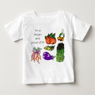 Camiseta Para Bebê T-shirt do Vegan