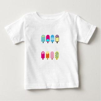Camiseta Para Bebê t-shirt doce do jérsei da multa do bebê do gelado