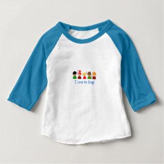 """Camiseta Para Bebê T-shirt dos bebés - """"eu amo cantar"""" a imagem"""