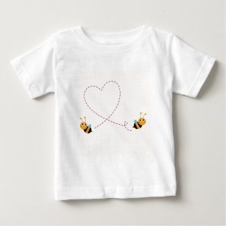 Camiseta Para Bebê T-shirt dos DESENHISTAS com abelhas do amor