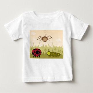 Camiseta Para Bebê T-shirt dos miúdos dos insetos rastejadors