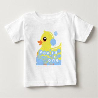 Camiseta Para Bebê T-shirt Ducky de borracha do bebê/criança