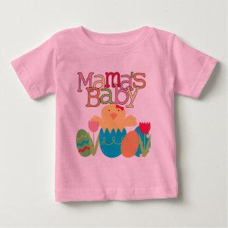 Camiseta Para Bebê T-shirt e presentes da páscoa do pintinho do bebé